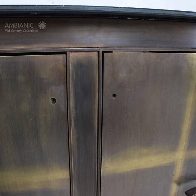Mid-Century Mexican Modern Bronze Credenza For Sale In San Diego - Image 6 of 8