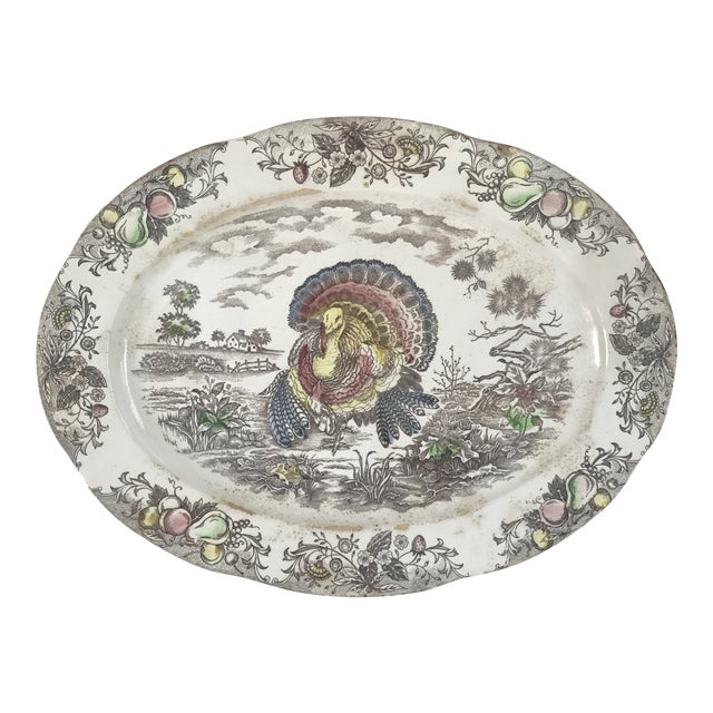 Japanese Transferware Turkey Platter For Sale