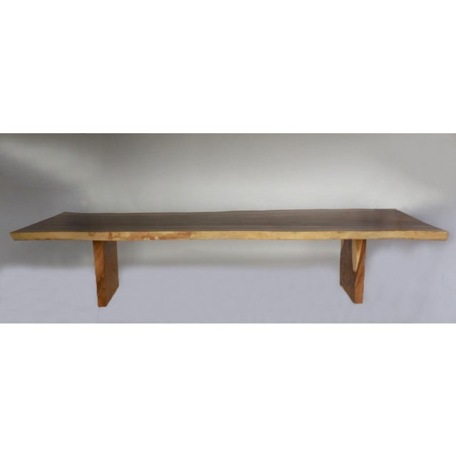 Early 21st Century Long Live Edge Organic Modern Albezia Table For Sale - Image 5 of 11