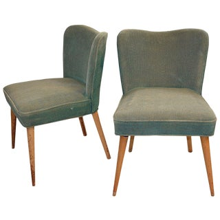 1940s Mid-Century Modern Side Chairs - a Pair For Sale