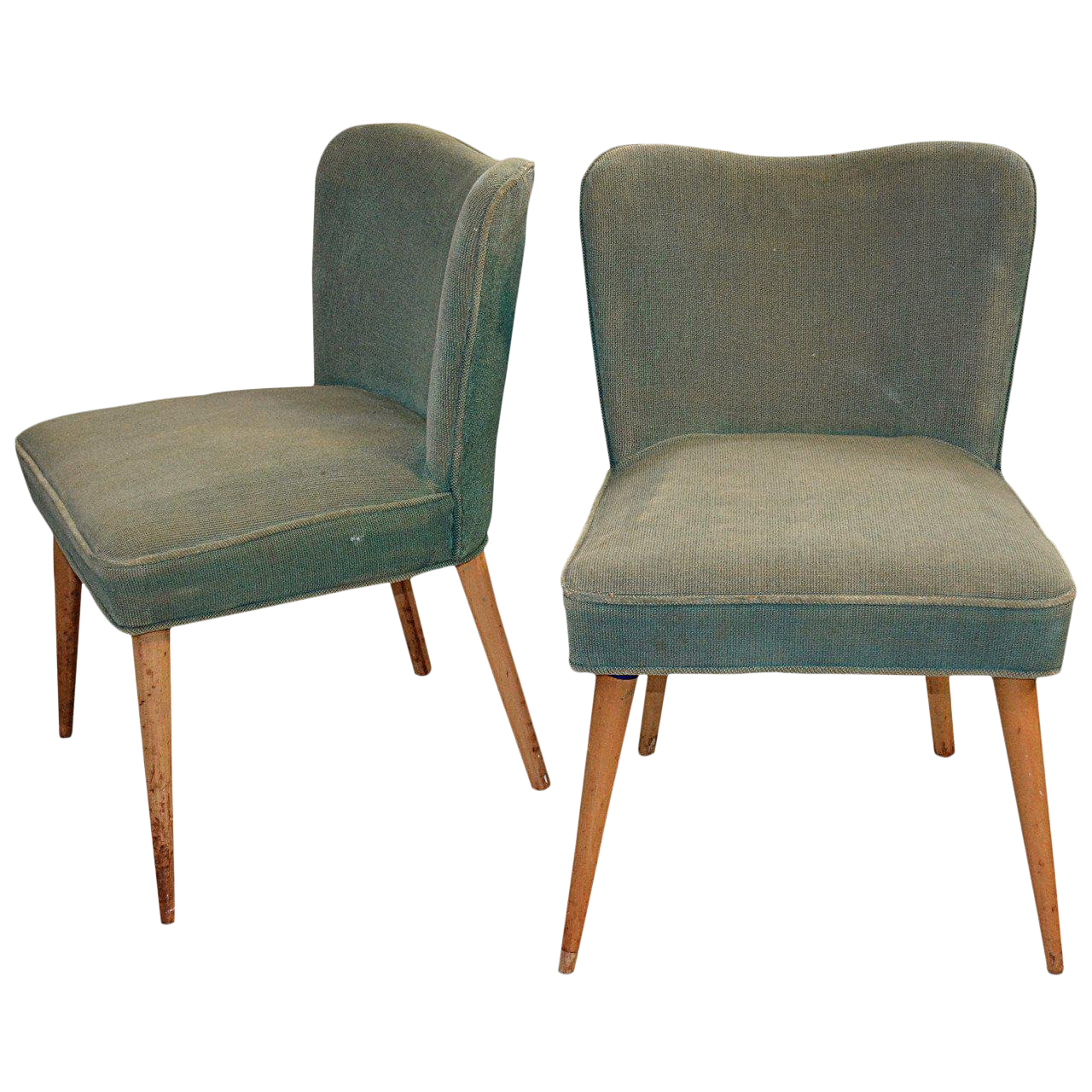 1940s Mid Century Modern Side Chairs   A Pair