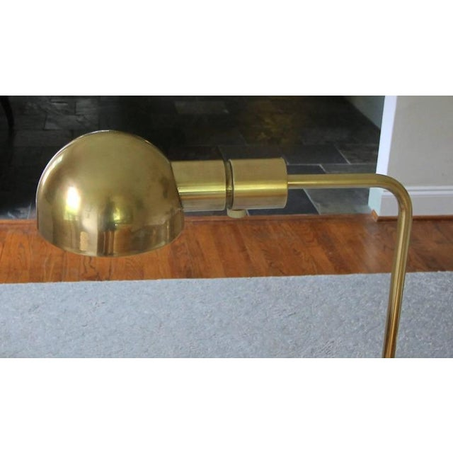 Casella Brass V Base Floor Lamp For Sale In Palm Springs - Image 6 of 10
