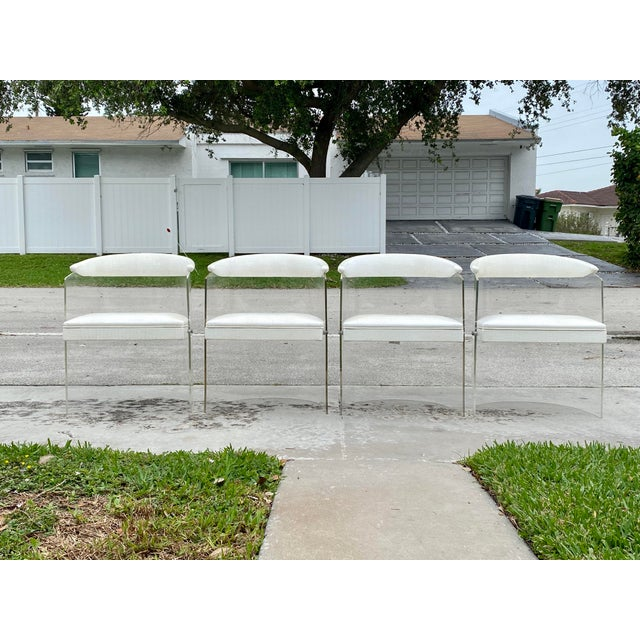 Lucite Barrel Back Chairs - Set of 4 For Sale - Image 11 of 13