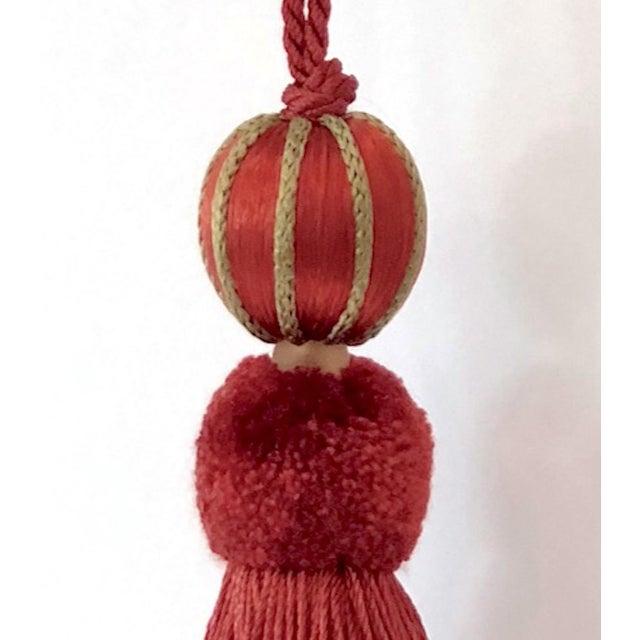 "Red Beaded Key Tassel - H 4.75"" For Sale - Image 9 of 9"