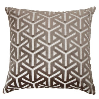 Keller Geometric Velvet Mushroom Pillow For Sale