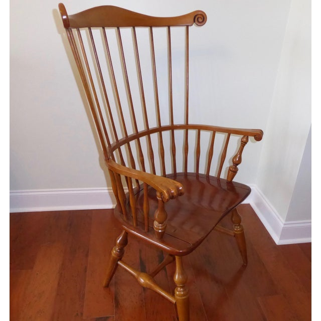 Ethan Allen Windsor High Back Arm Chair - Image 5 of 10