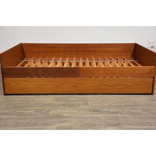 Teak Danish Twin Trundle Bed For Sale - Image 4 of 9