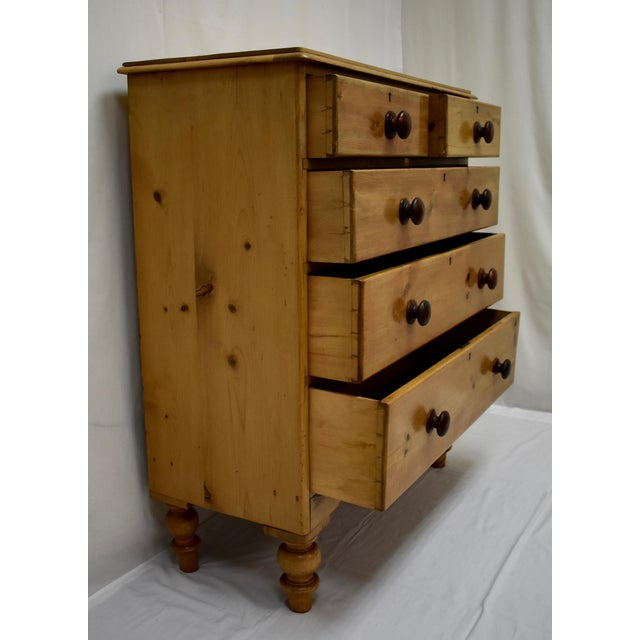 Pine English Victorian Pine Chest of Drawers For Sale - Image 7 of 12