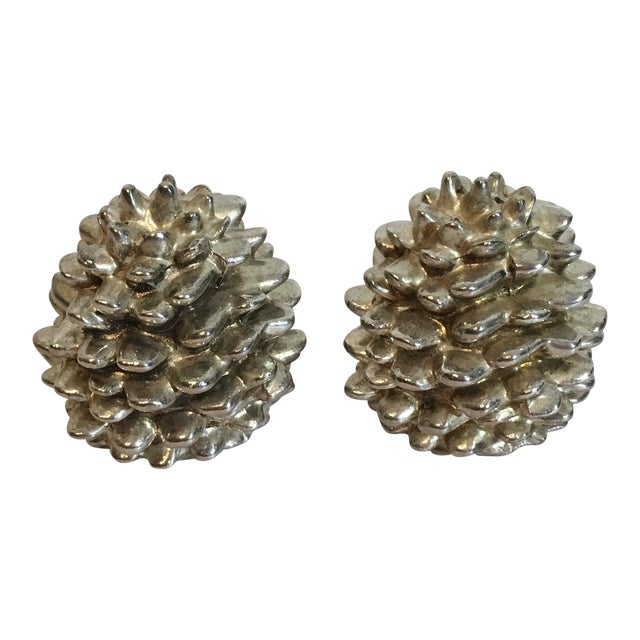Godinger Silver Art Pinecone Salt & Pepper Shakers - A Pair - Image 1 of 6