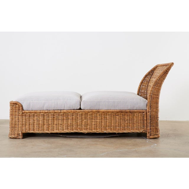 Tan Organic Modern Style Wicker Daybed or Chaise Lounge For Sale - Image 8 of 13