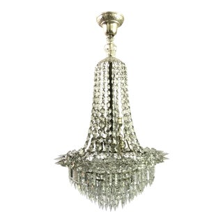 Antique Rare Biedermeier Crystal French Chandelier Art Deco