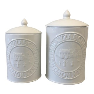 Vintage Wedgwood Ralph Lauren Schoolhouse Canisters - a Pair For Sale