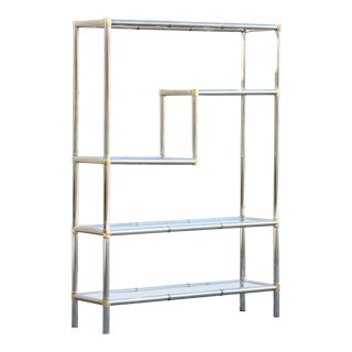 1970s Modern Chrome Etagere For Sale