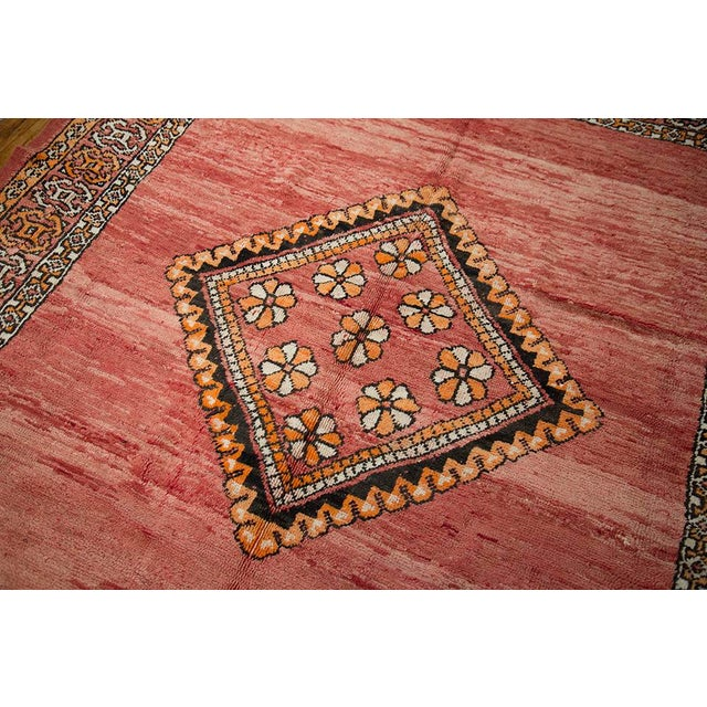 "Red Moroccan Taznakht Rug - 6'7"" X 8' - Image 4 of 8"