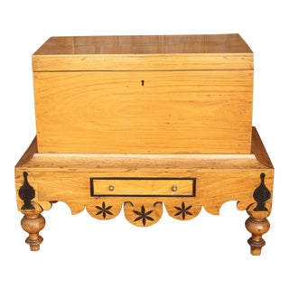 Antique Dutch Colonial Chest on Stand For Sale