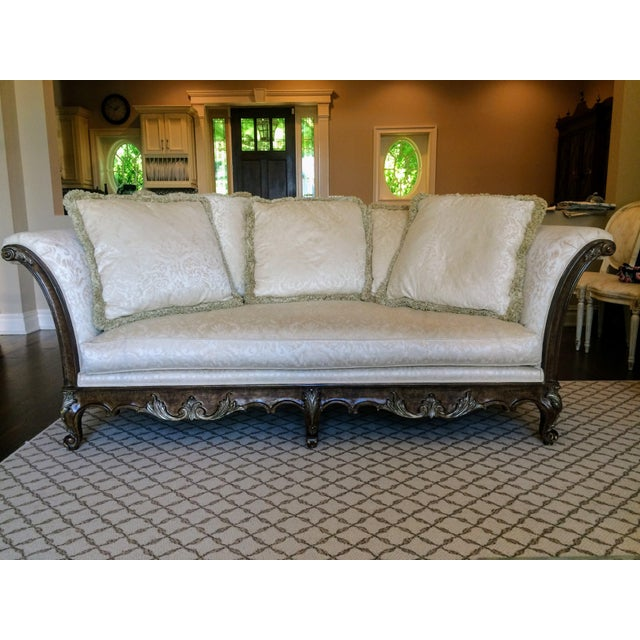 Wood White Jeffco Regency Sofa For Sale - Image 7 of 11