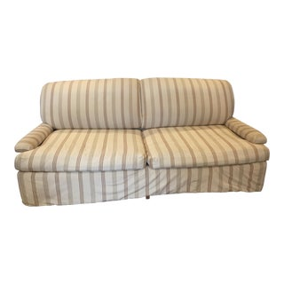 Custom Upholstered Silk Sofa