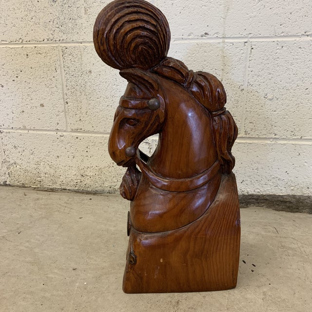Sarreid Ltd. Sarreid Solid Wood Carved Carnival Horse Head For Sale - Image 4 of 12