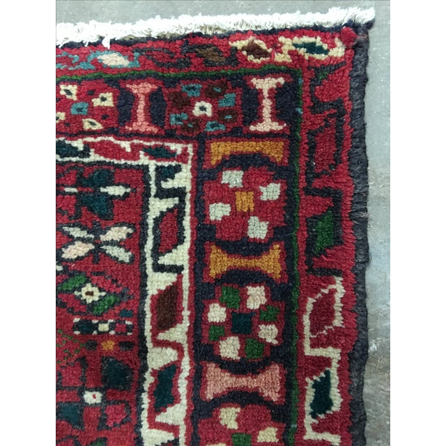 "Vintage Karajeh Persian Runner - 3'8"" X 9' - Image 8 of 9"