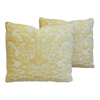 Mariano Fortuny Italian Corone Crown Feather/Down Pillows - Pair
