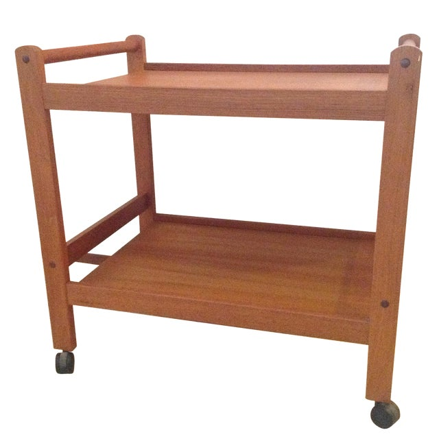 Danish Modern Teak Bar Cart - Image 1 of 6