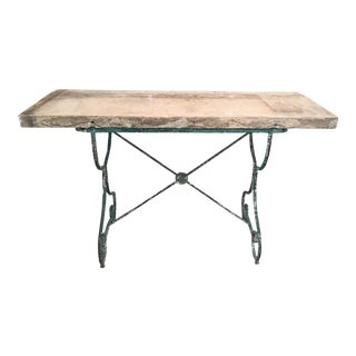 Antique French Iron Table For Sale