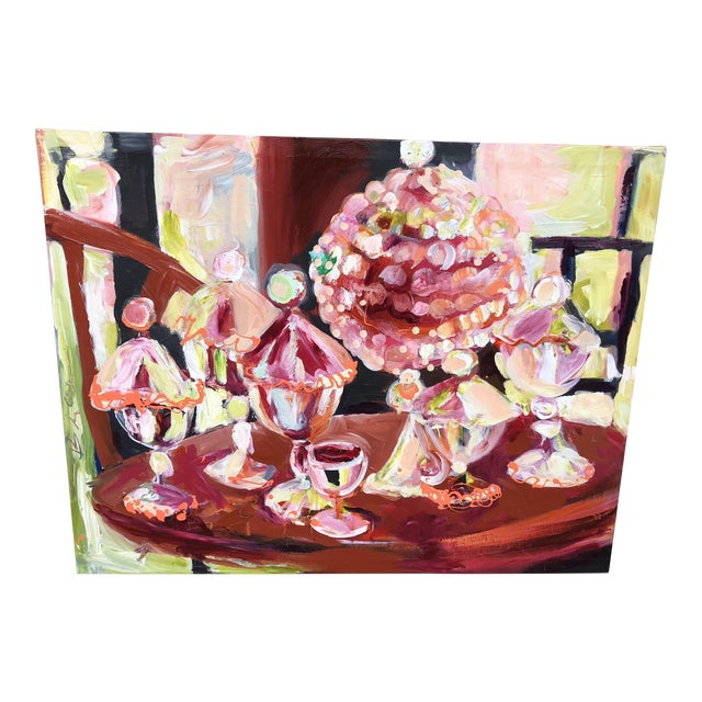 Abstract Candy Jar Oil Painting For Sale