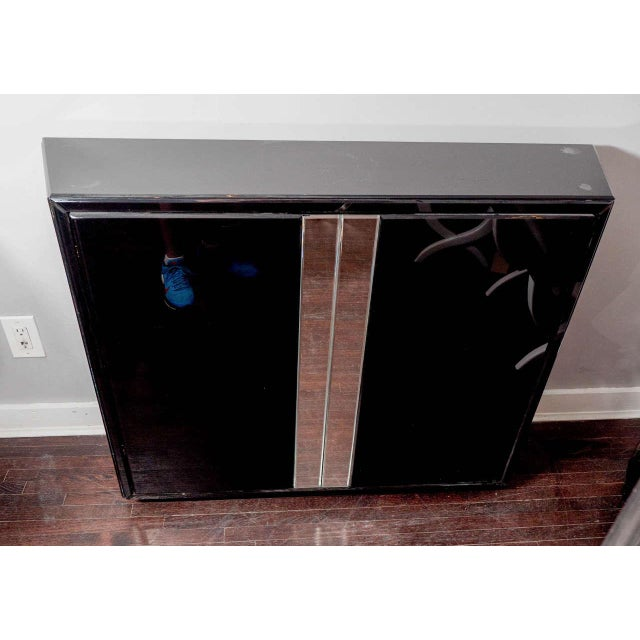1980s Black Glass Bar For Sale - Image 5 of 5