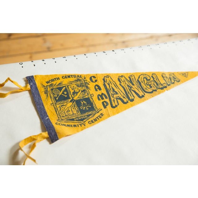 :: Camp Anglia of North Central Community Center in Denver Colorado felt flag souvenir banner pennant with emblem and...