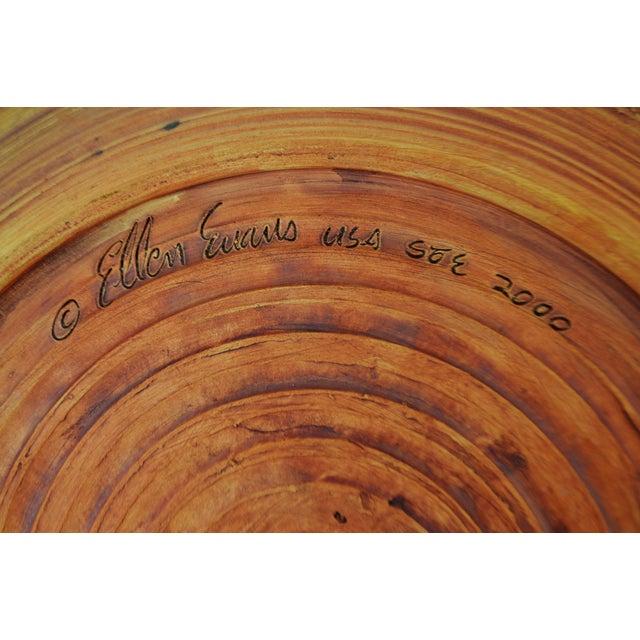 "Clay Vintage Terrafirma Ceramics by Ellen Evans 12"" Dinner Plate For Sale - Image 7 of 8"