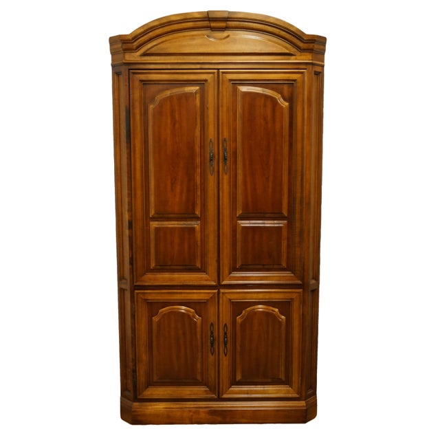 "Vintage Italian Provincial Cherry 41"" Entertainment Cabinet/Media Armoire For Sale - Image 13 of 13"