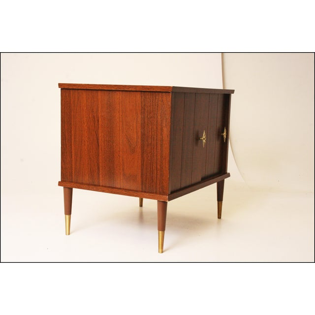 Mid-Century Modern Wood Record Cabinet - Image 4 of 11
