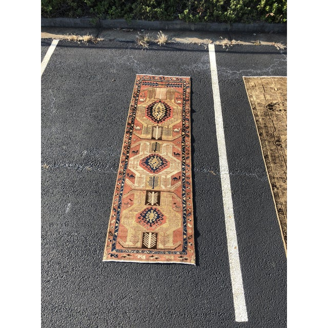 1950s Vintage Persian Sarab Runner Rug - 3′1″ × 10′2″ For Sale - Image 13 of 13