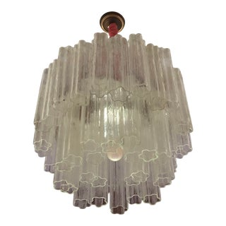 Vintage Tronchi Murano Glass Chandelier For Sale
