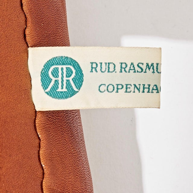 Mid 20th Century A Pair of Kaare Klint Safari Chairs and Ottomans, Rud Rasmussen, Denmark, 1960s For Sale - Image 5 of 6