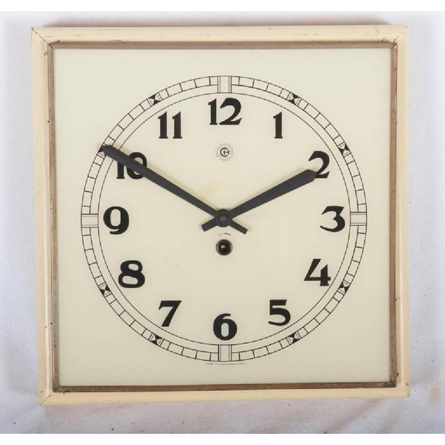 Art Deco Wall Clock, 1936 For Sale - Image 5 of 6