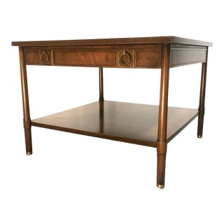 Mid Century Mahogany Johnson Furniture Side Table From John Stuart For Sale