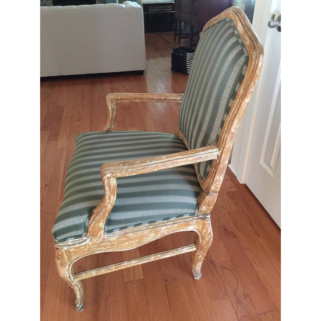 French Provincial Distressed Wood Chairs - 6 - Image 4 of 5
