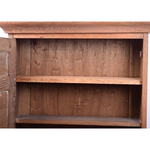 Arts & Crafts Large Arts and Crafts Rustic Farmhouse Wood Hanging Wall Cabinet Rustic Wall Cupboard For Sale - Image 3 of 10
