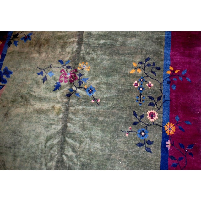 1920s Antique Art Deco Chinese Rug - 6′2″ × 11′8″ - Image 6 of 8