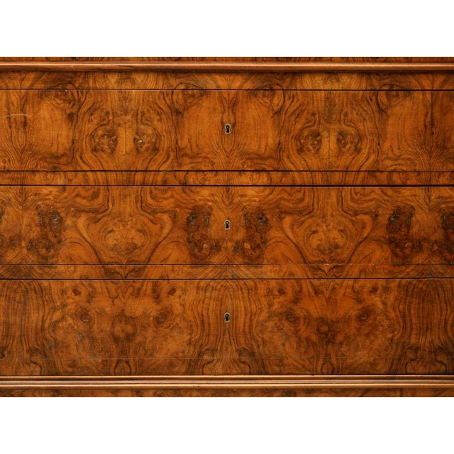 C.1860 Louis Philippe Book-Matched Burled Walnut Commode - Image 5 of 10