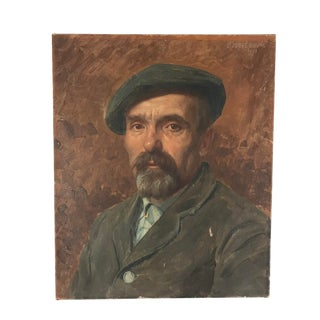 1913 Antique Jacques Jobbe-Duval Portrait of a Frenchman Painting For Sale