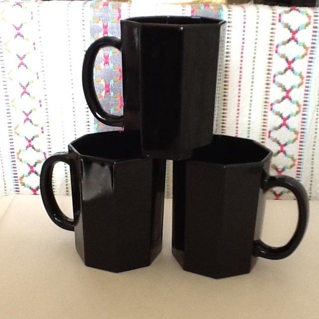 Ebony Ceramic French Mugs - Set of 6 For Sale - Image 11 of 11