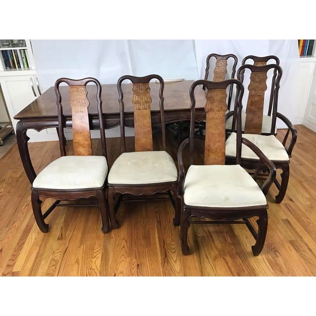 Chinese Chippendale Style Dining Table & Six Chairs- 7 Pieces - Image 7 of 11