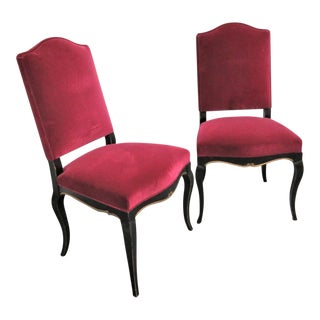 Roche Bobois Regency Style Side Chairs- a Pair For Sale