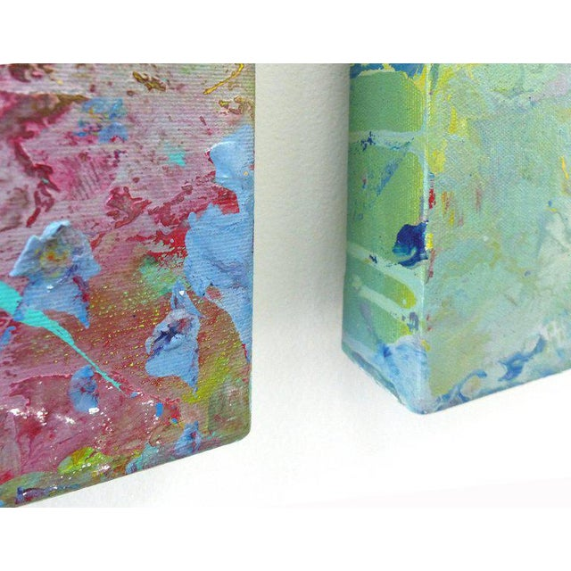 Diptych Abstract Paintings by Brazilian Artist Sandro War - A Pair For Sale - Image 9 of 11
