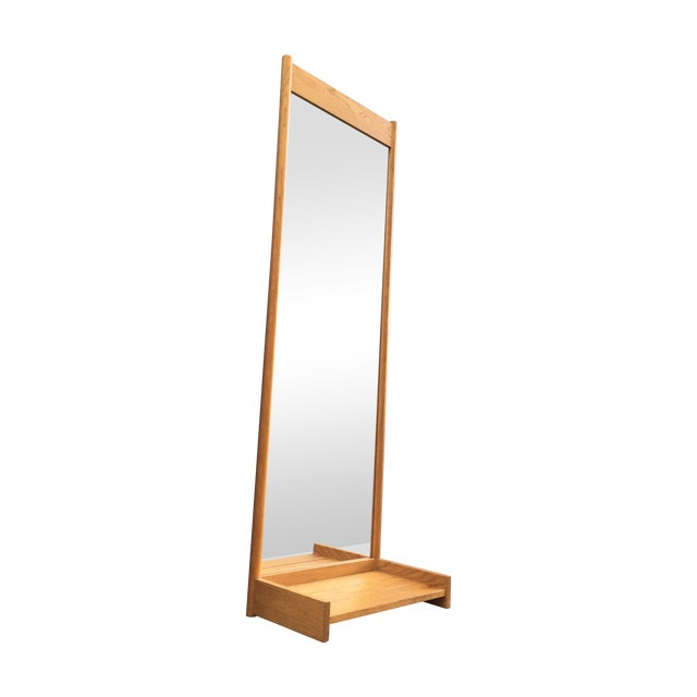Swedish Solid Oak Mirror Console - Image 1 of 5