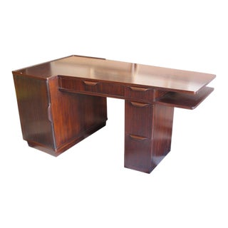 1940s Mid-Century Modern Edward Wormley for Dunbar Tanker Desk For Sale