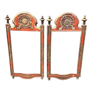 Vintage Large Ornate Burnt Orange Spanish Style Picture Frames