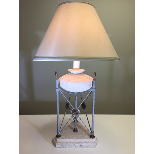 Unique lamp with many decorative elements. Could go in a mountain home, a rustic retreat, or a stylish transitional home....